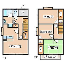 [テラスハウス] 兵庫県神戸市西区今寺 の賃貸【/】の間取り