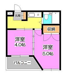 FONT45[3階]の間取り