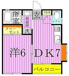 2ウィンコート[2階]の間取り