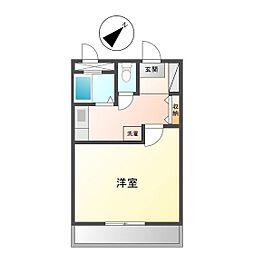 JINハイツ生桑[2階]の間取り