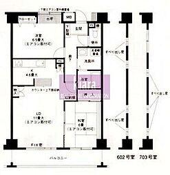 サンハイム西寺尾[6階]の間取り