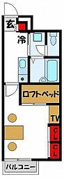 レオパレス福間駅東[203号室]の間取り