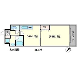 エンゼルプラザ京都[7階]の間取り
