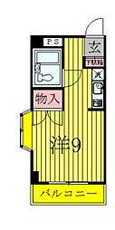 千葉県柏市桜台の賃貸マンションの間取り