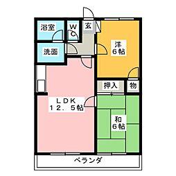 ハイツ石尾台[2階]の間取り