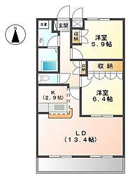 ウィッシュ[1階]の間取り