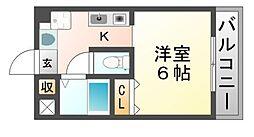 ルーエーベル潮江弐番館[1階]の間取り