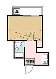 埼玉県越谷市伊原2丁目の賃貸アパートの間取り