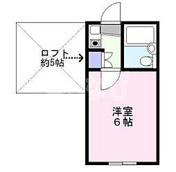 千葉県浦安市今川3の賃貸アパートの間取り