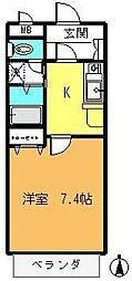 メゾン・ド・アブリール[2階]の間取り