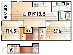 ソレア−ド中曽根C棟[2階]の間取り