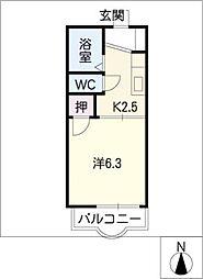 カレッジサイド寺田[2階]の間取り