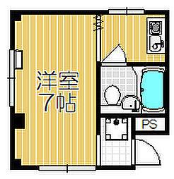 オネスト中島[203号室]の間取り