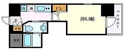 名古屋市営東山線 千種駅 徒歩11分の賃貸アパート 14階1Kの間取り