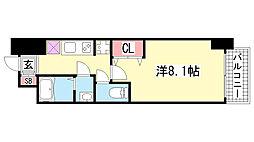 プロシード神戸元町[1003号室]の間取り