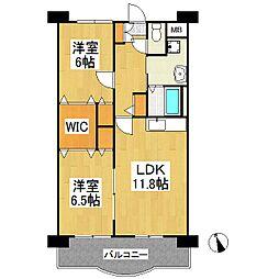 サンモール梅満[4階]の間取り