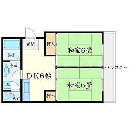 伏田ハイツ[2階]の間取り