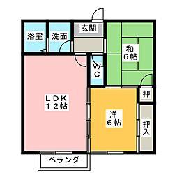 レークサイドヴィラC[2階]の間取り