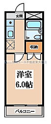 大阪府東大阪市南荘町の賃貸アパートの間取り