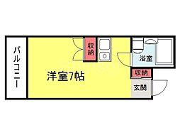 大阪府堺市堺区中之町東1丁の賃貸マンションの間取り