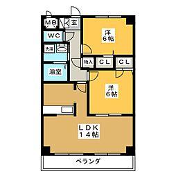 マノワール八事[7階]の間取り