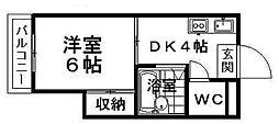 愛媛県松山市南江戸2丁目の賃貸マンションの間取り