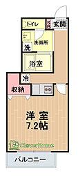 イーストヒル橋本[1階]の間取り