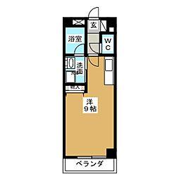 キャッスルミニ藤ヶ丘[2階]の間取り