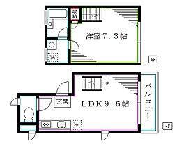 東京メトロ丸ノ内線 中野坂上駅 徒歩2分の賃貸マンション 5階1LDKの間取り