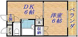 コーポ輝[3階]の間取り
