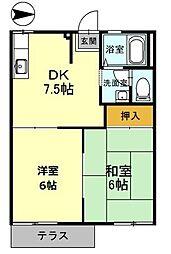 兵庫県豊岡市高屋の賃貸アパートの間取り