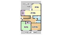 兵庫県神戸市兵庫区中道通6丁目の賃貸マンションの間取り