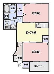 メゾンベルグラースA・C棟[C102号室]の間取り