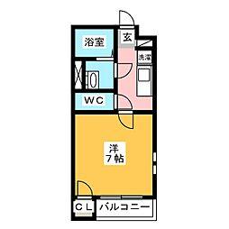 クレイノNKグランシャリオ[1階]の間取り