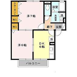 ガーデンハウス明正A棟[1階]の間取り