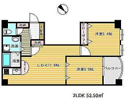 二宮ロイヤルハイツ2[4階]の間取り