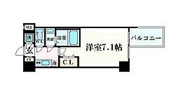大阪府大阪市中央区農人橋2丁目の賃貸マンションの間取り