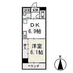 ワキタビル 3階[301号室]の間取り