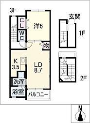 コージーハウス[3階]の間取り