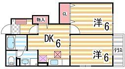 ボナールハイツ[1階]の間取り