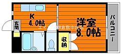 岡山県倉敷市三田丁目なしの賃貸マンションの間取り