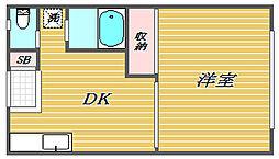 トリニティハウスI[1階]の間取り