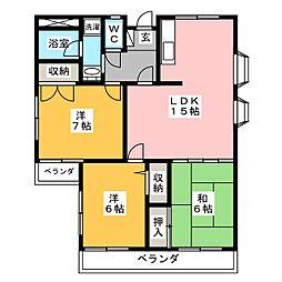 Mコーポ2[3階]の間取り