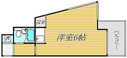 綱島ダイヤモンドパレス[5階]の間取り