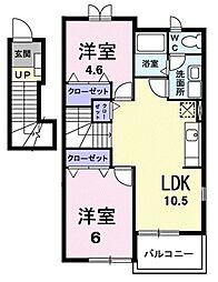 パーシモンガーデン[2階]の間取り