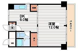 第1森之宮中央ハイツ[8階]の間取り