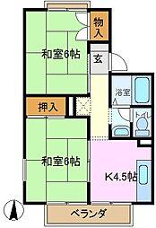 ドミール菅田[2階]の間取り