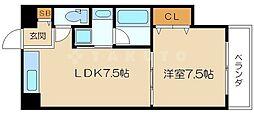 晋栄一番館[3階]の間取り