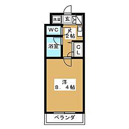 ワッツU[2階]の間取り