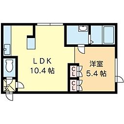 北海道札幌市北区北十七条西5丁目の賃貸マンションの間取り